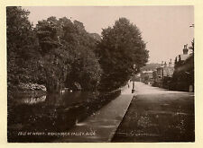 c1890 ISLE OF WIGHT BONCHURCH VALLEY OUCHY SWITZERLAND ANTIQUE PHOTOGRAPH