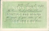 Union Bank of Scotland Postcard Receipt for letter Braemar Branch 1920