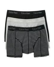 NWT Calvin Klein. Sz XL. Men'. 3 Pack. Comfort F Boxer. Black Solid. MSRP $39.50