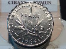 CIRA(59)(29) - 1 FRANC - SEMEUSE - 1964 - RARE QUALITE SPL/SUP+ !