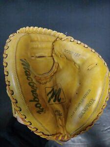 MacGregor Leather Catchers Mitt- scoop Toe Deep Pocket Pro Hinge BBCMPROX