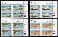 RSA 1983  MNH BEACHES BLOCKS OF 4