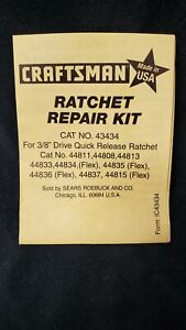 Craftsman USA 3/8 ratchet repair kit  43434 for USA ratchets only!