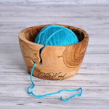 Mother's Day SAL! Handmade Yarn Bowl, Knitting Bowl Handcrafted from Olive Wood