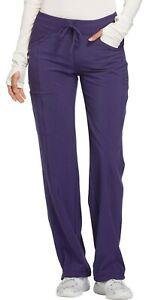"Infinity Scrubs #5121 Knit Yoga Drawcord Waist Scrub Pant in ""Grape"" Size XS"