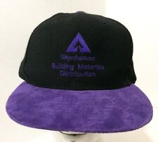 1ee470fb58f WEYERHAEUSER Purple Leather Black Wool Truckers Snapback Baseball Cap Hat