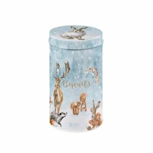 Wrendale Woodland Animal Christmas Biscuit Tin Tube - All Butter Shortbread