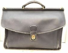 Coach VTG Beekman Leather 5266 Messenger Portfolio Briefcase Black laptop bag