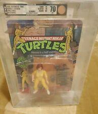 1988 Teenage Mutant Ninja Turtles April No Stripes AFA 70 TMNT Playmates RARE