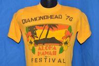 vtg 70s DIAMOND HEAD CRATER SUNSHINE MUSIC FESTIVAL 76 ALOHA HAWAII t-shirt S