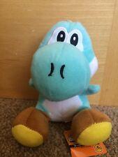 Super Mario Plush Teddy - Aqua Yoshi Soft Toy - size 19cm NEW & Tagged