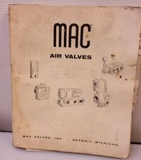 MAC AIR VALVES CATALOG MANUAL BOOK REFERENCE FREE SHIP USA 🇺🇸