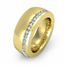 Men's Engagement Eternity Expensive Ring 14K Yellow Gold Filled 2.3 Ct Diamond