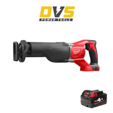 Milwaukee M18BSX-0 Cordless M18 18V Heavy Duty Reciprocating Saw & 4Ah Battery