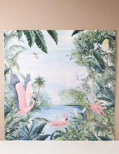 NEW Anthropologie Ervine Wallpaper Mural Tropical Paradise Pink Flamingos