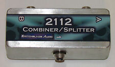 """2112 Combiner / Y-Cable in a Box ~Connect 1 Device into 2 OR 2 into 1~ 1/4"""" Mono"""