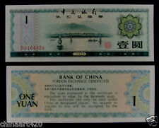 1979 bank of China foreign exchange certificate 1 yuan UNC