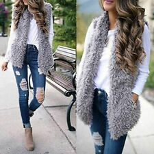 Fur Vest Sleeveless Warm Coat For Ladies Winter Clothing Casual Fashion Outwear