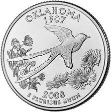 2008 P Oklahoma State Quarter BU