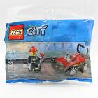 Lego City Fire ATV #30361, Polybag Set w/ Minifigure, Kids Easter Basket Gift