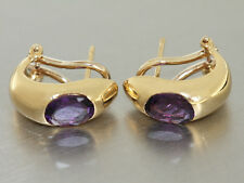 Ohrclipse Gold 750 mit Amethyst - Ohrclipd - Amethist Ohrstecker Ohrringe
