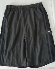 Nike Swim Shorts Cargo Charcoal Black Color Block Men's Vintage Size S