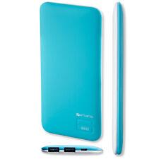 4smarts 468445 Duos Slim Power Bank 6600 mAh Blau-weiß D