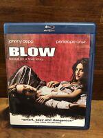 BLOW Johnny Depp Penelope Cruz Blu-ray Disc 2008 Warner Bros Drama EXC