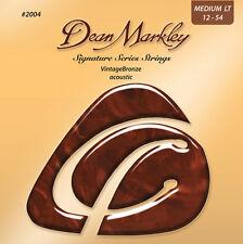 5 sets Dean Markley Vintage Bronze 2004 Medium Light Acoustic Guitar Strings