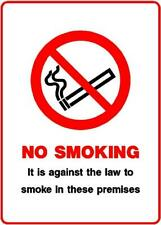 No Smoking, Warning Sign, 3mm composite sign or self adhesive sticker PH63