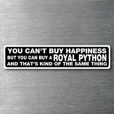 Buy a Royal Python sticker Premium 7 yr water/fade proof vinyl pet snake