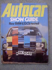 Autocar (16 Oct 1976) BMW 633 CSi, Reliant Kitten, Daimler Limousine, Paris Show