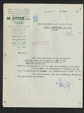 "COLMAR (68) MACHINES AGRICOLES / METAUX / APPAREILS SANITAIRES ""M. SITTER"" 1950"