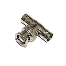 BNC Male to Double BNC Female T Adapter Pack of  5