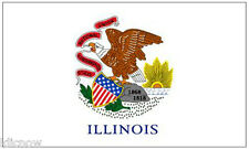 ILLINOIS (USA State) FLAG 5FT X 3FT (Another quality item from klicnow)