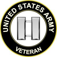 """Army Captain O-3 Veteran 5.5"""" Sticker 'Officially Licensed'"""
