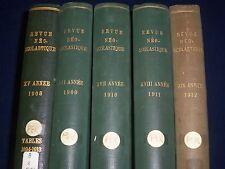 1908-1912 REVUE NEO SCOLASTIQUE PHILOSOPHIQUE DE LOUVAIN VOL. LOT OF 5 - TL 280