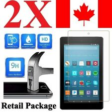 [2 Pack] Tempered Glass Screen Protector for Amazon Kindle Fire 7 / HD 8 / HD 10