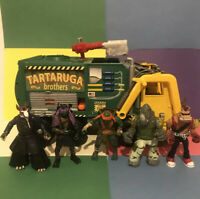 TMNT Ninja Turtles Vehicle Tartaruga Garbage Truck and figures