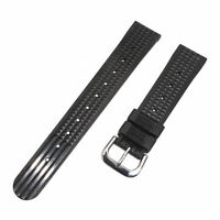 Soft Rubber Waffle Watch Strap Band For Seiko Diver Watch 6217 6159 6105 20mm UK