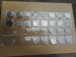 Lot de 25 monnaies argent 50 Centimes SEMEUSE..