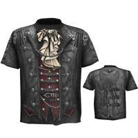 Fashion Summer 3D Jacket Print Casual T-Shirt Top Basic Tee Men O-Neck Blouse UK