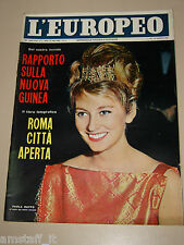 EUROPEO=1962/4=PAOLA RUFFO LIEGI=CLAIRE BOOM=FRNACOISE SAGAN=ANCASH PERU'=