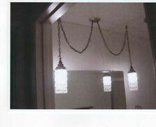 Vintage Double Pendant Ornate Swag Lamp