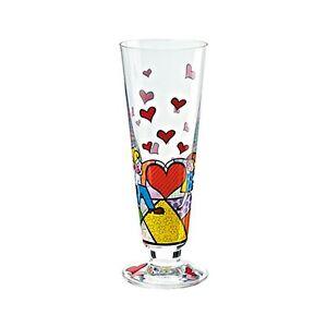 """GOEBEL Romero Britto  Bier- / Saftglas Glas """"Kinder mit Herz""""  66450149"""