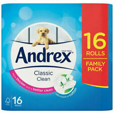 Andrex Classic Clean Toilet Roll Tissue - 16 Toilet Rolls