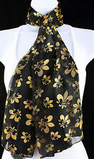 Mardi Gras Party Womens Scarf New Orleans Gift Scarfs Fleur Di Lis Scarves New