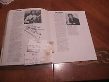 BB King Autographed Program Book for Joe Lewis JSA Auc Certified