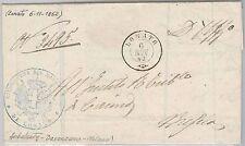 Brescia --- ITALIA REGNO:  storia postale - BUSTA / LETTERA : Lonato  1862