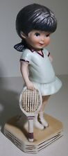 Fran Mar Japan Gorham Moppets Bisque Figurine Vintage 1974 Little Girl Tennis